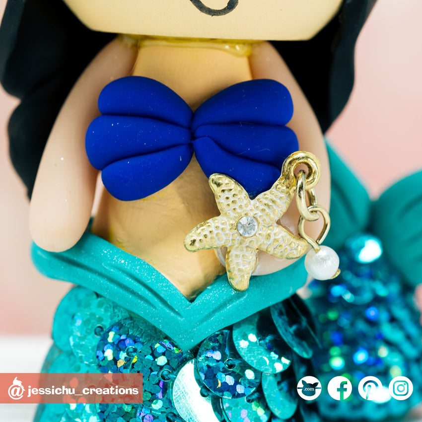Disney Ariel & Flounder Custom Handmade Birthday Cake Topper Figurine | Cake Toppers | Cake Topper Gallery | Jessichu Creations
