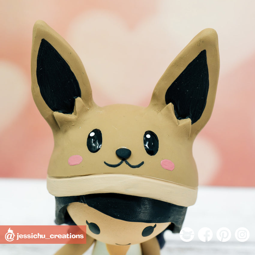 Eevee | Pokemon x Nintendo | Custom Handmade Wedding Cake Topper | Jessichu Creations