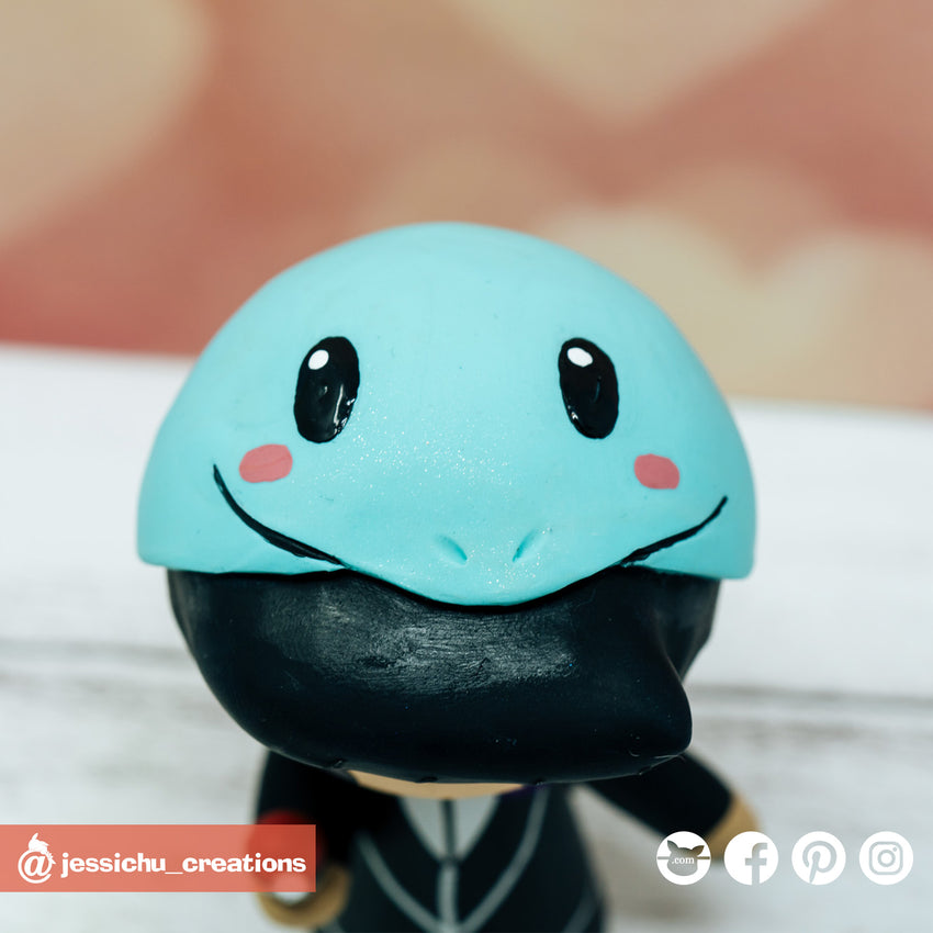 Squirtle | Pokemon x Nintendo | Custom Handmade Wedding Cake Topper | Jessichu Creations