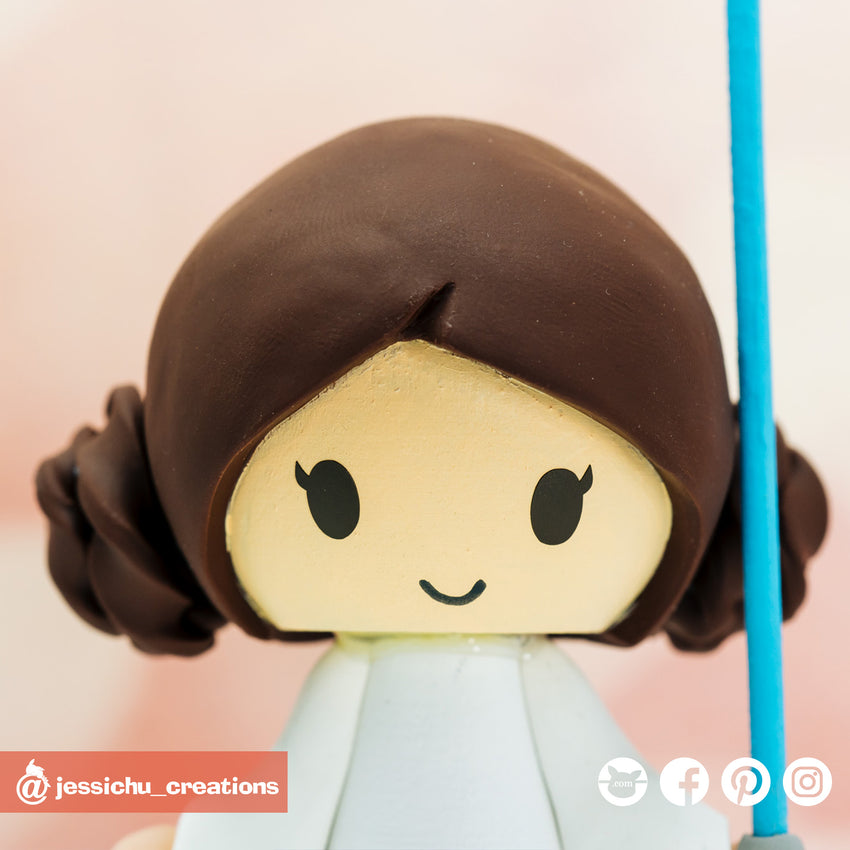 Princess Leia | Star Wars | Custom Handmade Wedding Cake Topper | Jessichu Creations