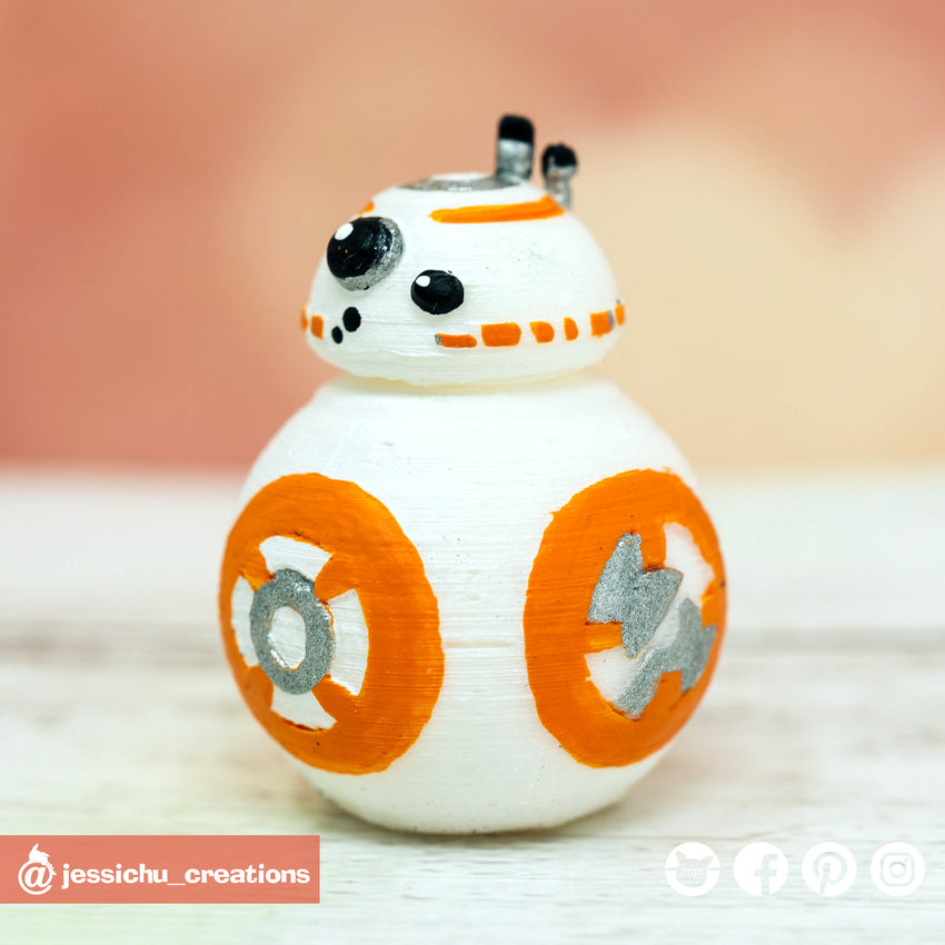 BB8 | Star Wars | Custom Handmade Wedding Cake Topper | Jessichu Creations
