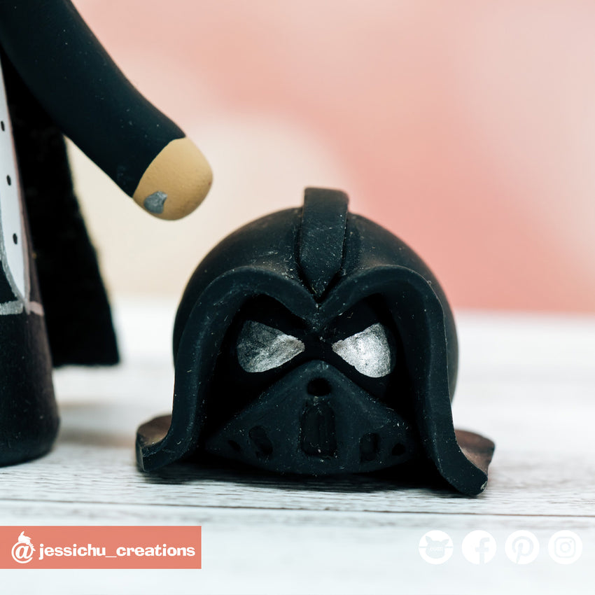 Darth Vader Groom & HP Gryffindor Bride Inspired Star Wars x Harry Potter x GOT Wedding Cake Topper | Wedding Cake Toppers | Cake Topper Gallery | Jessichu Creations