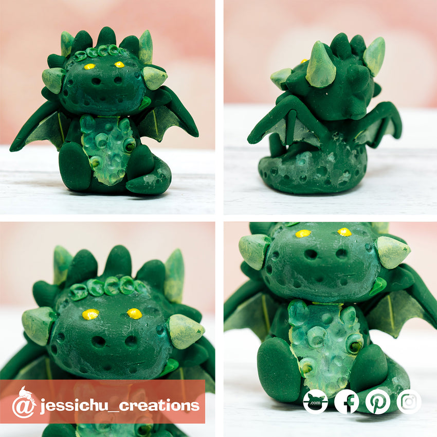 Game of Thrones Green Dragon | Custom Handmade Wedding Cake Topper | Jessichu Creations