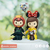 Ironman & Belle | Disney x Marvel | Custom Handmade Wedding Cake Topper | Jessichu Creations