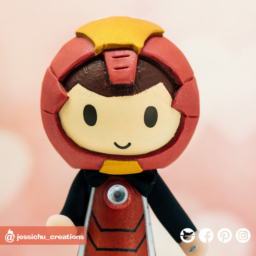 Ironman | Marvel | Custom Handmade Wedding Cake Topper | Jessichu Creations