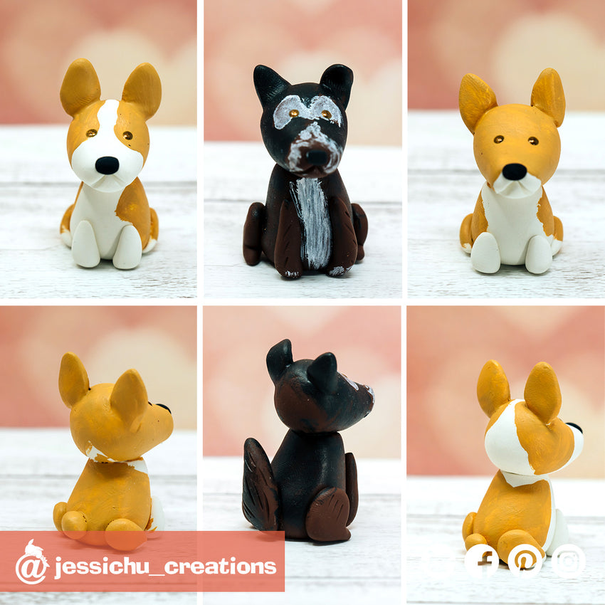 Pet Dogs | Wedding Cake Topper | Jessichu Creations
