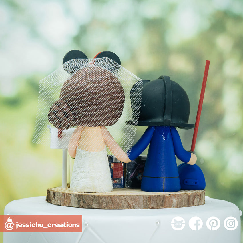 Darth Vader Groom & Minnie Bride Inspired Disney x Star Wars  Inspired Wedding Cake Topper | Wedding Cake Toppers | Cake Topper Gallery | Jessichu Creations