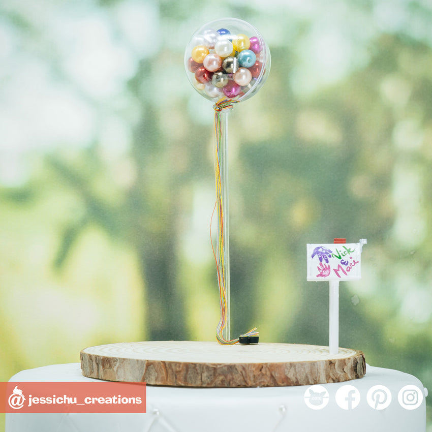 UP Pearl  Balloons | Disney x Pixar | Custom Handmade Wedding Cake Topper Figurines | Jessichu Creations