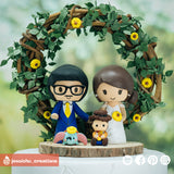Disney Fan Couple with Dumbo & Woody | Disney x Pixar x Toy Story | Custom Handmade Wedding Cake Topper | Jessichu Creations