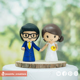 Couple | Custom Handmade Wedding Cake Topper | Jessichu Creations