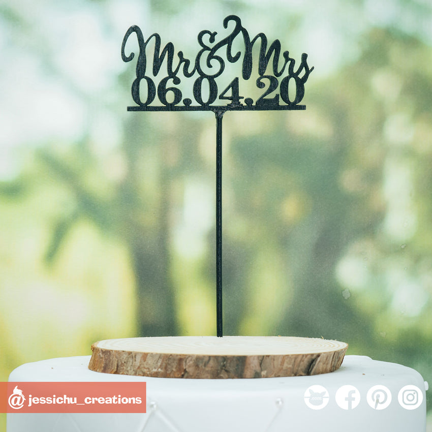 Custom Cutout Sign | Signs | Custom Handmade Wedding Cake Topper Figurines | Jessichu Creations