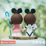 Star Wars x Disney Inspired Family Inspired Custom Handmade Wedding Cake Topper Figurines