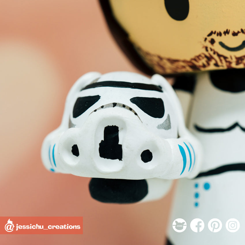 Stormtrooper | Star Wars | Custom Handmade Wedding Cake Topper | Jessichu Creations