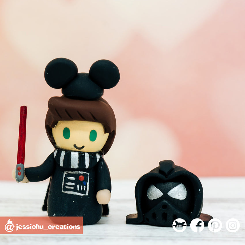 Darth Vader Child  | Star Wars | Custom Handmade Wedding Cake Topper | Jessichu Creations