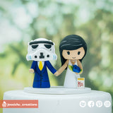 Stormtrooper & Bride | Star Wars x Kinky Boots | Custom Handmade Wedding Cake Topper | Jessichu Creations