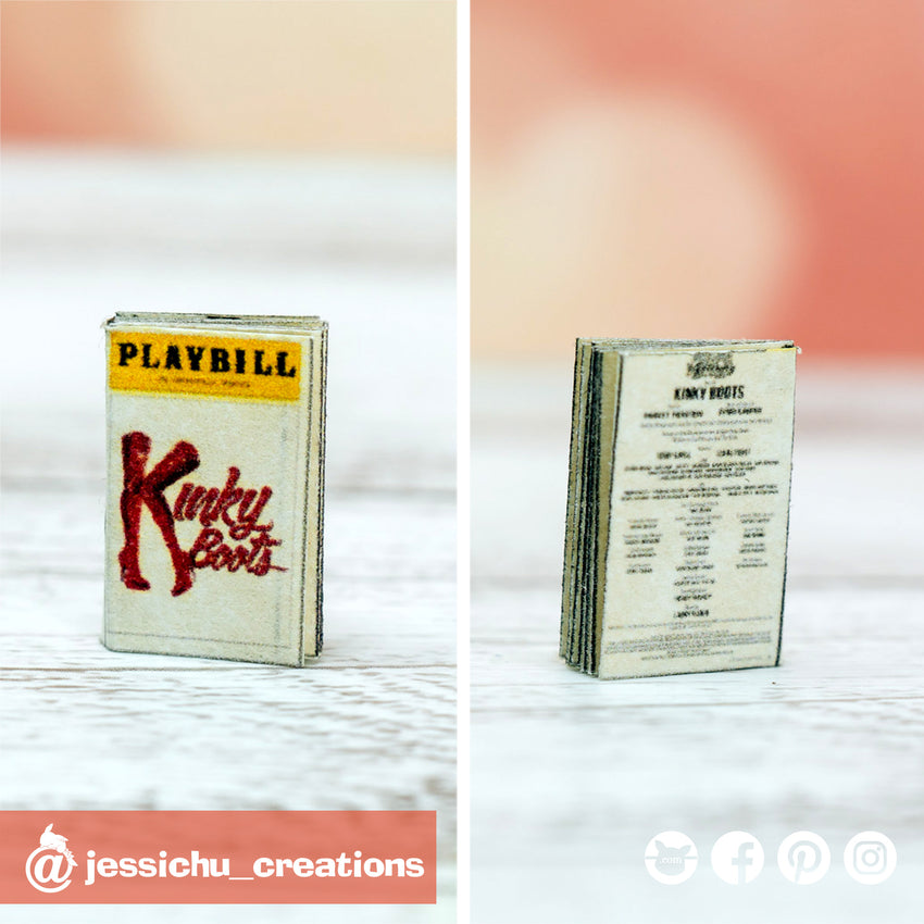 Kinky Boots Playbill | Custom Handmade Wedding Cake Topper | Jessichu Creations