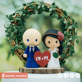 Simple Couple | Custom Handmade Wedding Cake Topper | Jessichu Creations