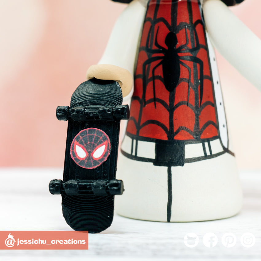 Spiderman Groom & Traditional Chinese Bride Marvel Inspired Wedding Cake Topper | Wedding Cake Toppers | Cake Topper Gallery | Jessichu Creations