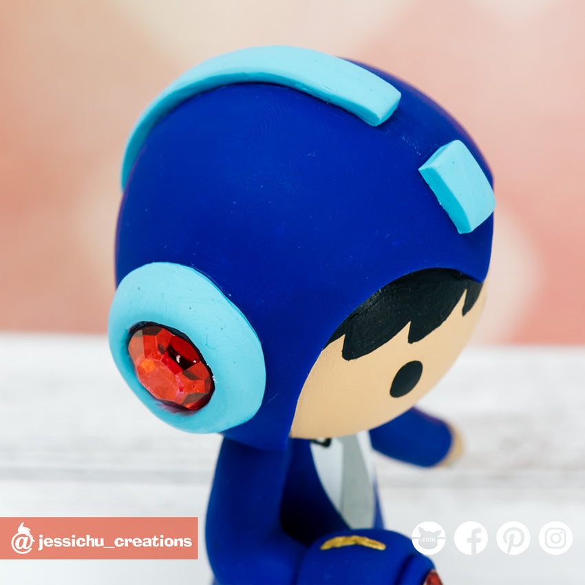 Megaman | Sega | Custom Handmade Wedding Cake Topper | Jessichu Creations