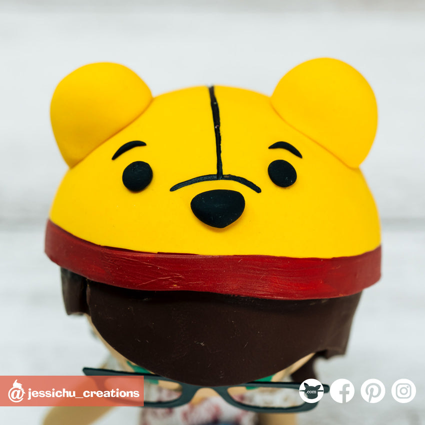 Pooh | Disney x Winnie the Pooh | Custom Handmade Wedding Cake Topper | Jessichu Creations