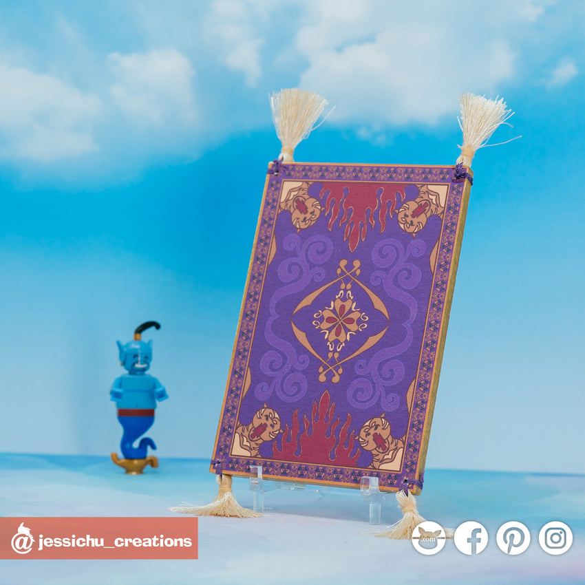 Magic Carpet | Disney x Aladdin | Custom Handmade Wedding Cake Topper Figurines | Jessichu Creations