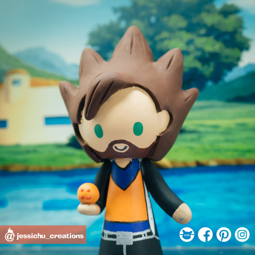 Goku | Dragon Ball Z | Custom Handmade Wedding Cake Topper | Jessichu Creations