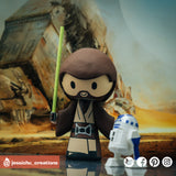 Jedi | Star Wars | Custom Handmade Wedding Cake Topper Figurines | Jessichu Creations