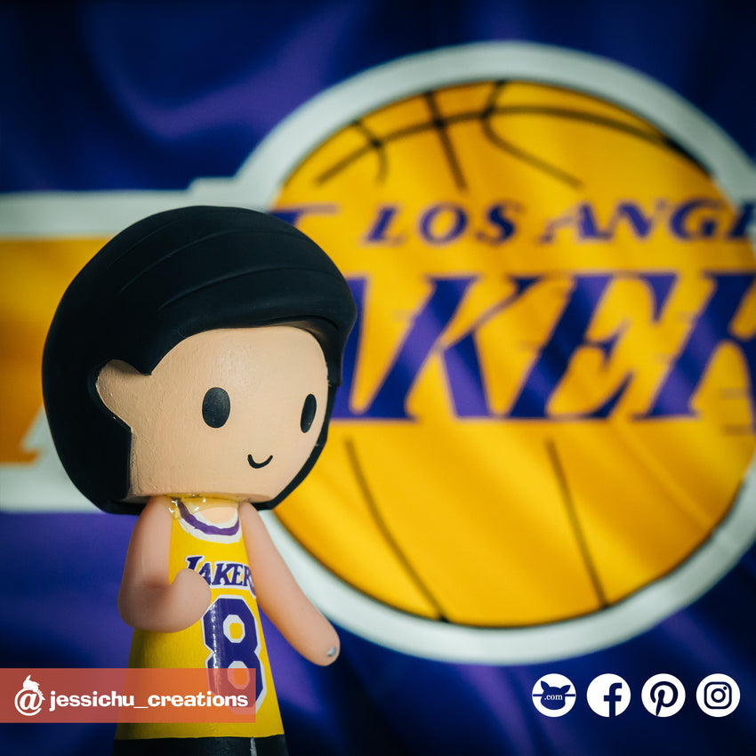 Kobe Bryant Lakers | LA Lakers | Custom Handmade Wedding Cake Topper | Jessichu Creations