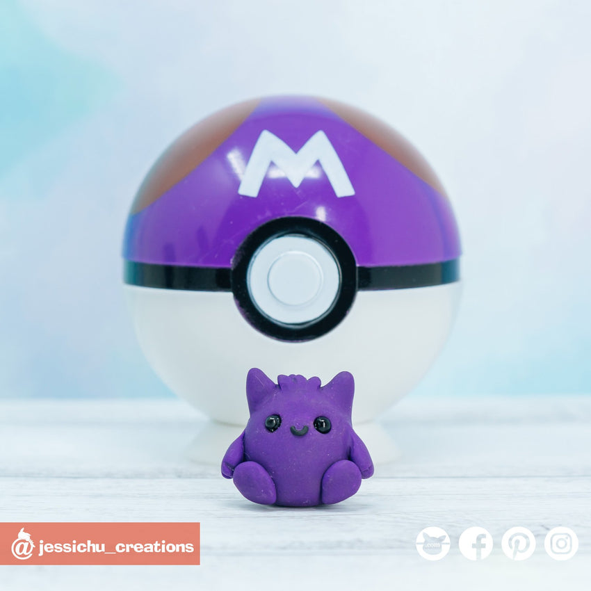 Gengar Pokemon | Custom Handmade Wedding Cake Topper Figurines | Jessichu Creations