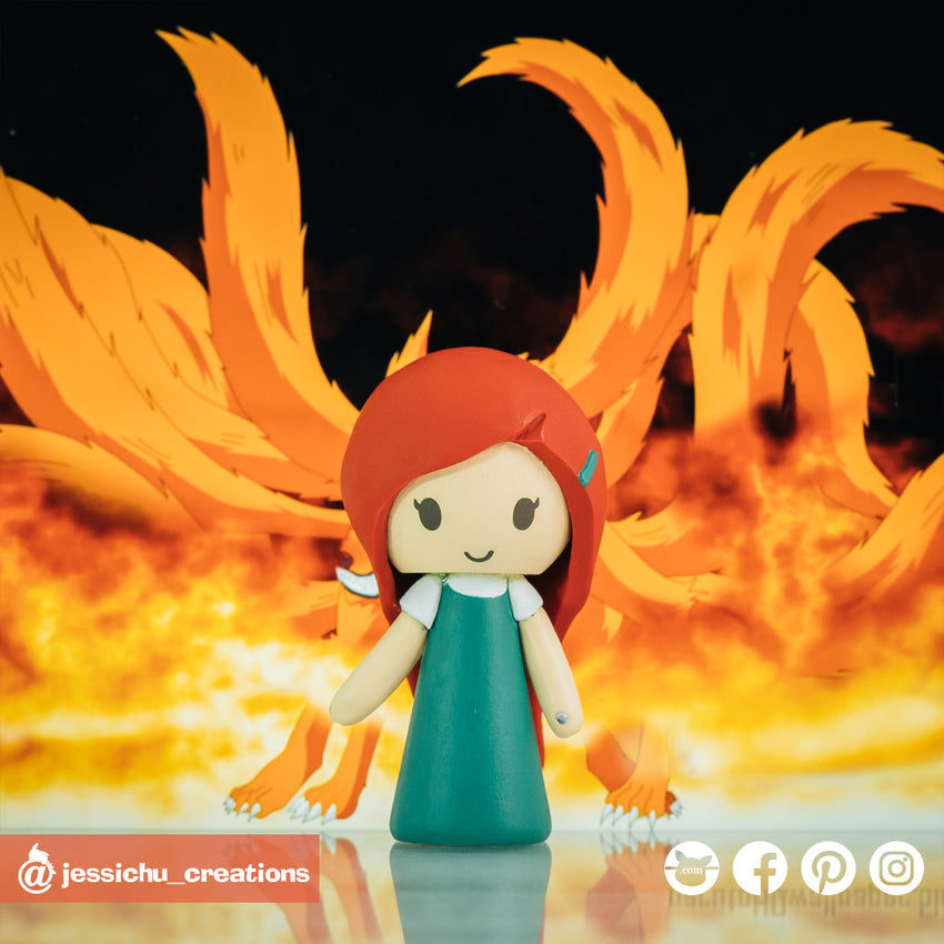 Kushina Uzumaki | Naruto | Custom Handmade Wedding Cake Topper | Jessichu Creations