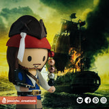 Captain Jack Sparrow Compass | Disney | Custom Handmade Wedding Cake Topper | Jessichu Creations