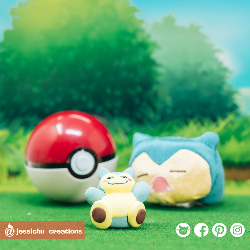 Pokemon Snorlax | Accessories | Custom Handmade Wedding Cake Topper Figurines | Jessichu Creations