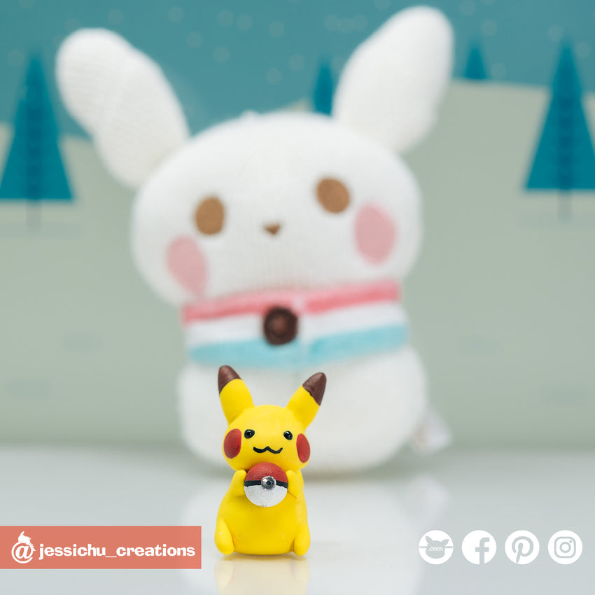Pokemon Pikachu | Nintendo Pokemon | Custom Handmade Wedding Cake Topper Figurines | Jessichu Creations