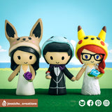 Pokemon x Nintendo | Custom Handmade Wedding Cake Topper | Jessichu Creations
