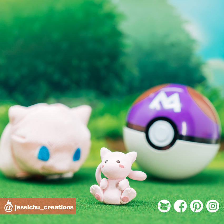 Pokemon Mew | Nintendo Pokemon | Custom Handmade Wedding Cake Topper Figurines | Jessichu Creations