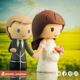 Expecting Couple | Custom Handmade Wedding Cake Topper | Jessichu Creations