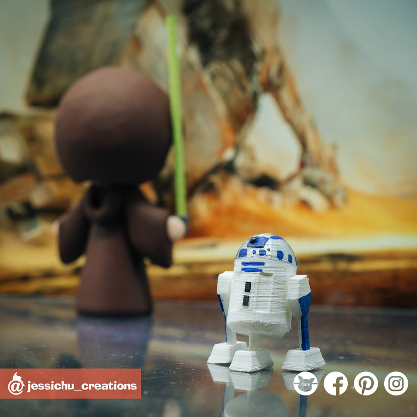 R2D2 | Star Wars | Custom Handmade Wedding Cake Topper | Jessichu Creations