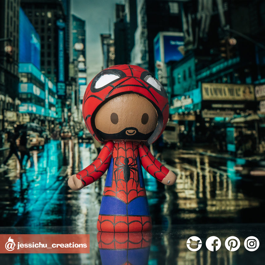 Spiderman | Marvel | Custom Handmade Wedding Cake Topper Figurines | Jessichu Creations