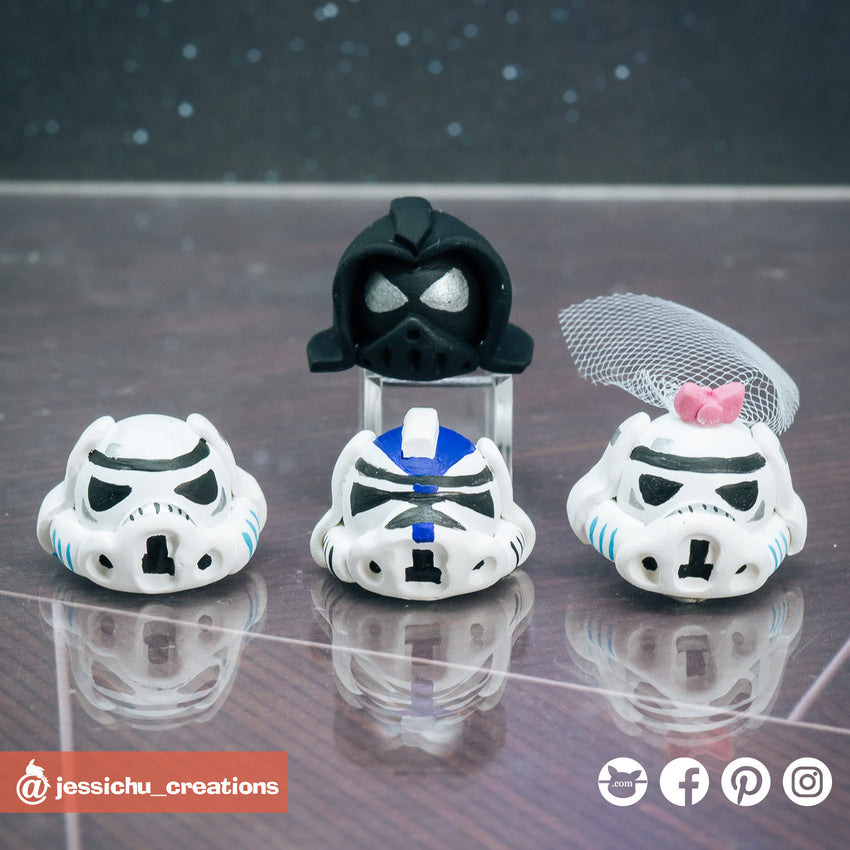 Star Wars helmet | Accessories | Custom Handmade Wedding Cake Topper Figurines | Jessichu Creations