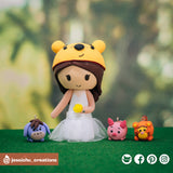 Winnie the Pooh | Disney | Custom Handmade Wedding Cake Topper Figurines | Jessichu Creations