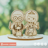 Harry Potter Couple Inspired Wooden Cutout Wedding Cake Topper | Wooden Cutouts | Cake Topper Gallery | Jessichu Creations