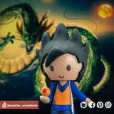 Goku | Dragon Ball Z | Custom Handmade Wedding Cake Topper Figurines | Jessichu Creations
