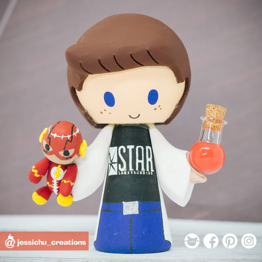 Starlab Scientist with Flash Doll | DC | Custom Handmade Wedding Cake Topper Figurines | Jessichu Creations