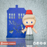Eleventh Doctor Groom | Dr. Who | Custom Handmade Wedding Cake Topper Figurines | Jessichu Creations