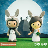 Totoro Couple | Studio Ghibli | Custom Handmade Wedding Cake Topper | Jessichu Creations