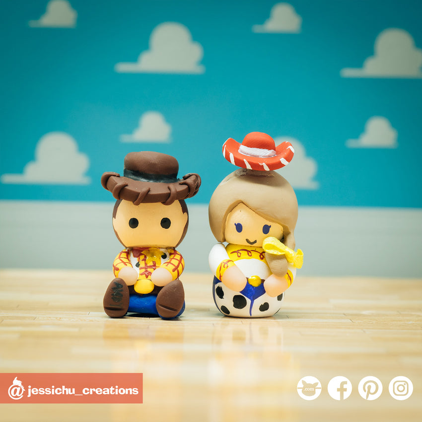 Woody | Disney x Pixar x Toy Story | Custom Handmade Wedding Cake Topper | Jessichu Creations