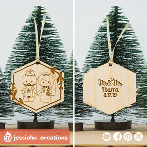 Dallas Cowboys x Harry Potter Wooden Cutout Christmas Ornament | Wooden Cutouts | Wooden Gallery | Jessichu Creations