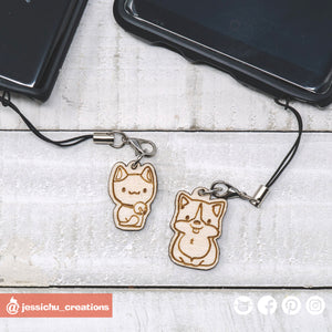 Wooden Dog or Cat Charm - Add-on Only | Wooden Items | Wooden | Jessichu Creations