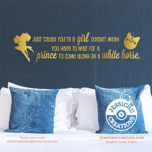 Just cause youre a girl - Sailor Moon Inspired Geeky Quote Wall Vinyl Decal Decals