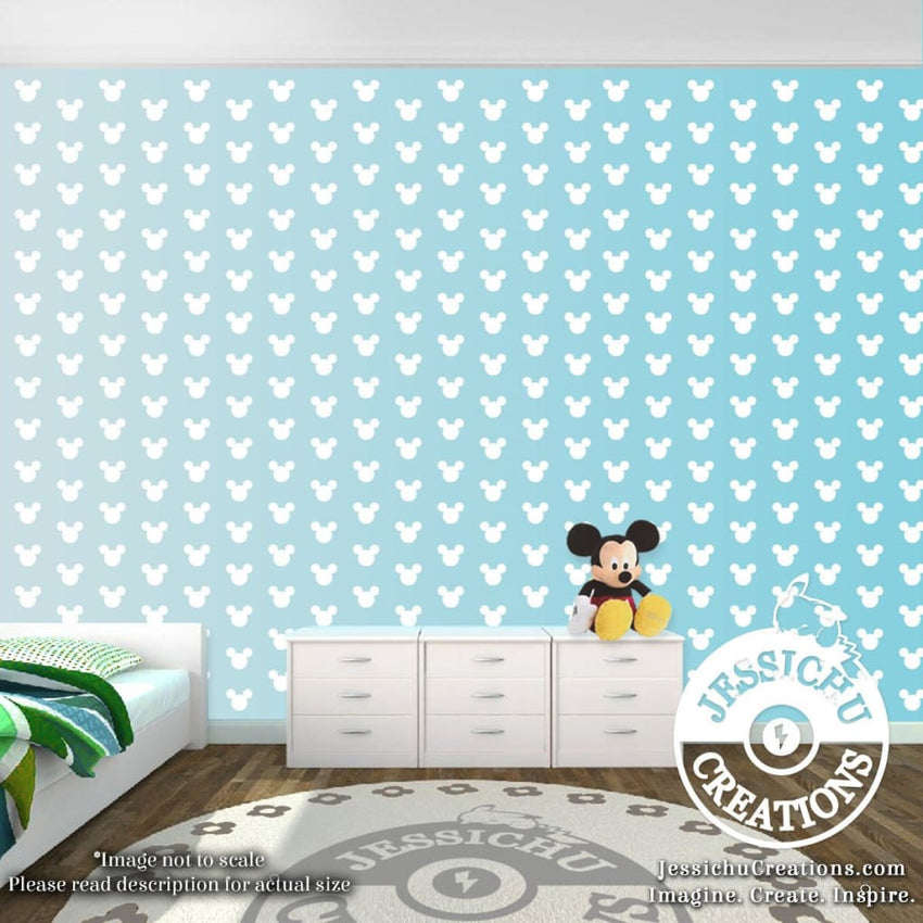 Mickey Mouse Ears Wall Confetti 1 2 Or 3 Disney Inspired Vinyl Decal For Home Decor Decals